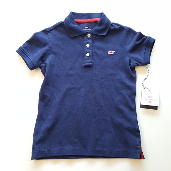 Vineyard Vines for Target Toddler Girls Navy Blue Polo Shirt New